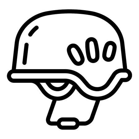 Hiking helmet icon. Outline hiking helmet vector icon for web design isolated on white background Illustration