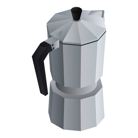 Coffee maker kettle icon. Isometric of coffee maker kettle vector icon for web design isolated on white background Vettoriali