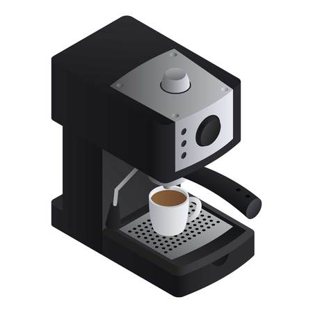 Office coffee machine icon. Isometric of office coffee machine vector icon for web design isolated on white background
