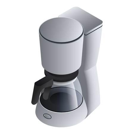 Icono de máquina de café clásica. Isométrica de máquina de café clásica icono vectoriales para diseño web aislado sobre fondo blanco.