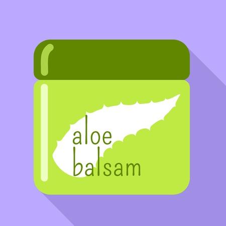 Aloe balsam icon. Flat illustration of aloe balsam vector icon for web design