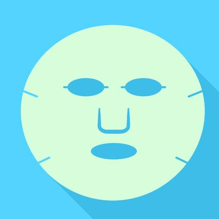 Aloe face mask icon. Flat illustration of aloe face mask vector icon for web design