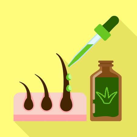 Aloe dropper icon. Flat illustration of aloe dropper vector icon for web design