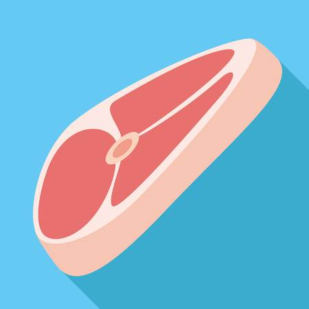 Raw steak icon. Flat illustration of raw steak vector icon for web design