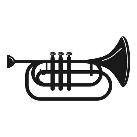 Concert trumpet icon. Simple illustration of concert trumpet vector icon for web design isolated on white background