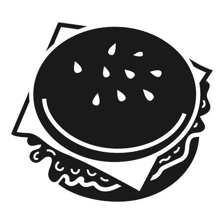 Burger icon. Simple illustration of burger vector icon for web design isolated on white background