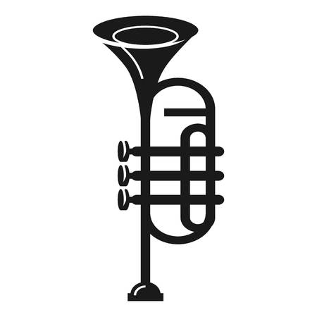 Band trumpet icon. Simple illustration of band trumpet vector icon for web design isolated on white background