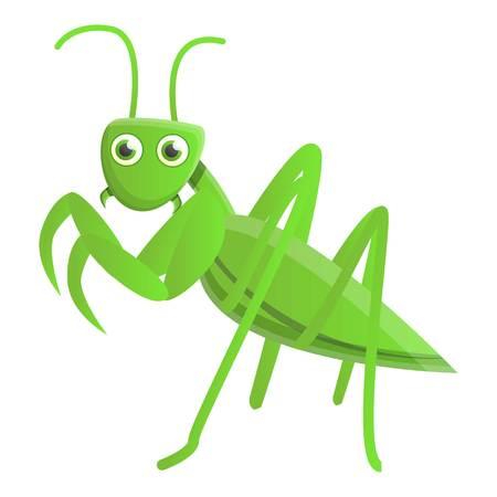 Wild mantis icon. Cartoon of wild mantis vector icon for web design isolated on white background