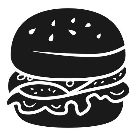 Unhealthy burger icon. Simple illustration of unhealthy burger vector icon for web design isolated on white background 向量圖像