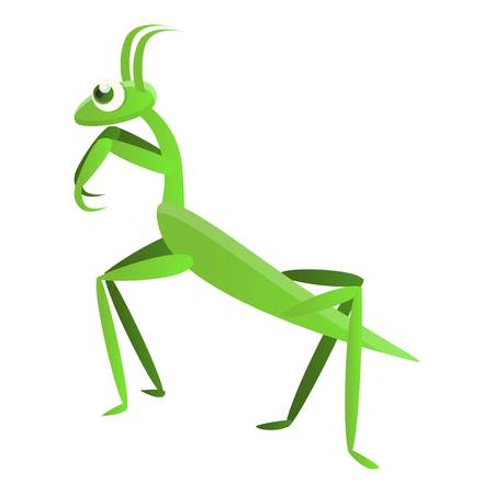 Mantis icon. Cartoon of mantis vector icon for web design isolated on white background