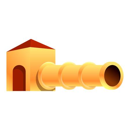 Kid play tunnel icon. Cartoon of kid play tunnel vector icon for web design isolated on white background 矢量图片