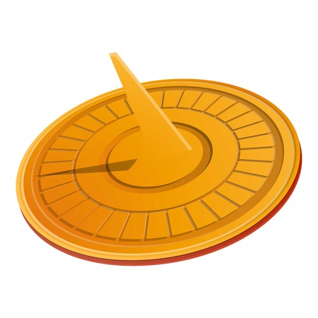 Solar sundial icon. Cartoon of solar sundial vector icon for web design isolated on white background