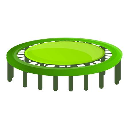 Trampoline icon. Cartoon of trampoline vector icon for web design isolated on white background Ilustrace