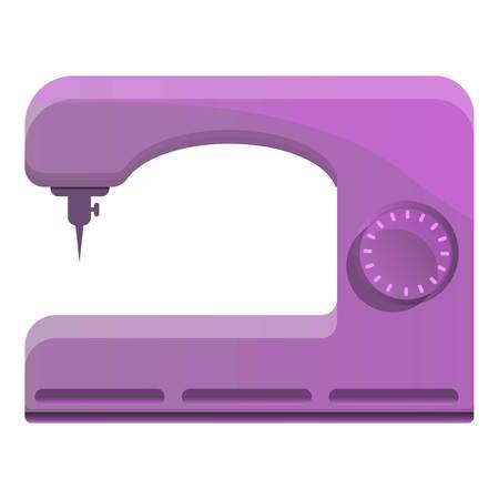 Pink sew machine icon. Cartoon of pink sew machine vector icon for web design isolated on white background