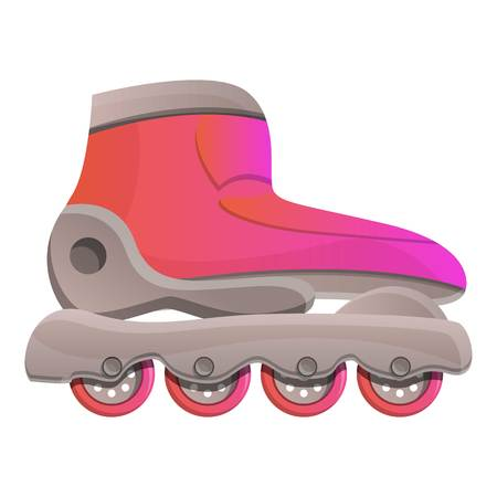 Modern inline skates icon. Cartoon of modern inline skates vector icon for web design isolated on white background