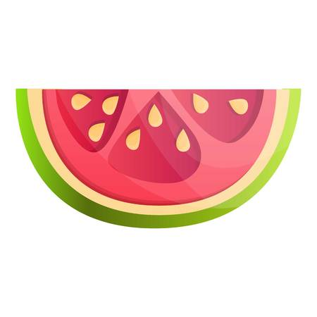 Guava piece icon. Cartoon of guava piece vector icon for web design isolated on white background