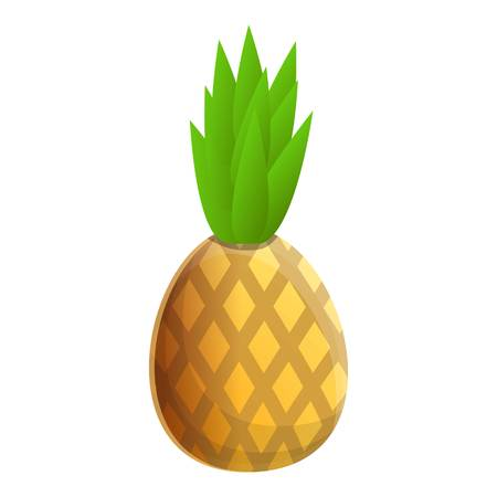 Tasty pineapple icon. Cartoon of tasty pineapple vector icon for web design isolated on white background