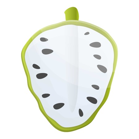 Seed soursop icon. Cartoon of seed soursop vector icon for web design isolated on white background