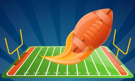 American football modern equipment concept banner. Cartoon illustration of american football modern equipment vector concept banner for web design
