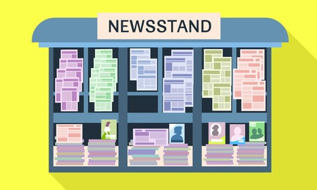 Street newsstand icon. Flat illustration of street newsstand vector icon for web design