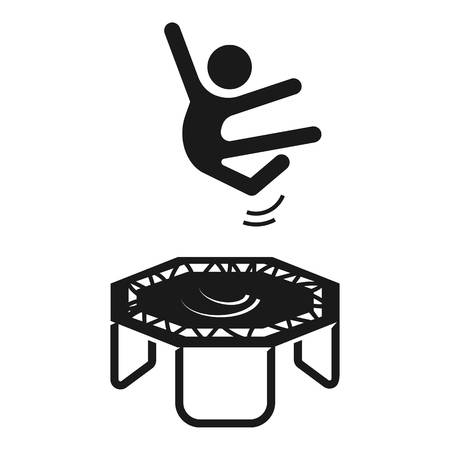 House trampoline icon. Simple illustration of house trampoline vector icon for web design isolated on white background Illustration