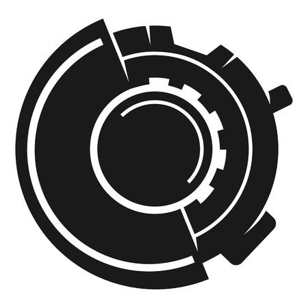 Round inhaler icon. Simple illustration of round inhaler vector icon for web design isolated on white background Illustration