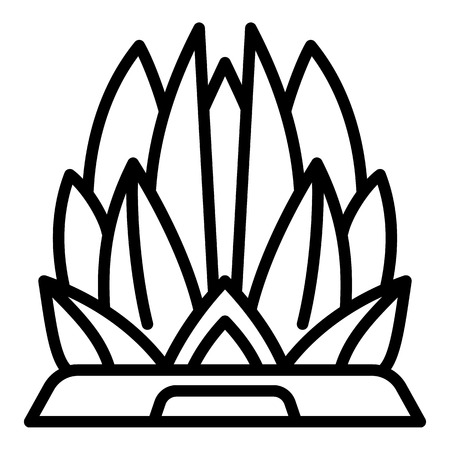 Lotus temple icon. Outline lotus temple vector icon for web design isolated on white background
