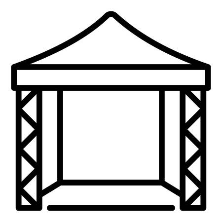 Canopy scene icon. Outline canopy scene vector icon for web design isolated on white background