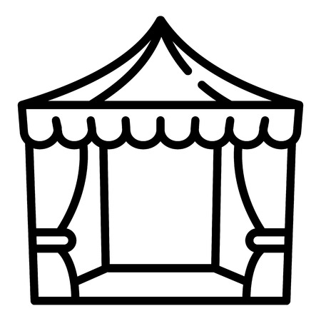 Wedding awning icon. Outline wedding awning vector icon for web design isolated on white background