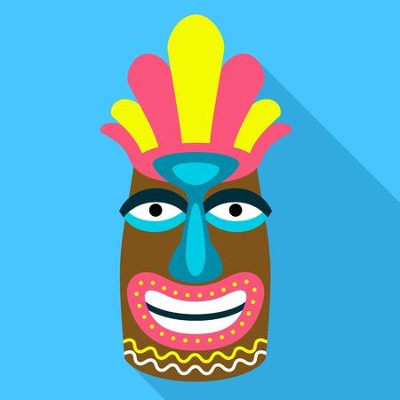 Tahiti idol icon. Flat illustration of tahiti idol vector icon for web design