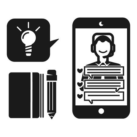 Online live webinar icon. Simple illustration of online live webinar vector icon for web design isolated on white background