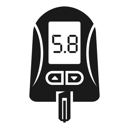 Digital glucose meter icon. Simple illustration of digital glucose meter vector icon for web design isolated on white background