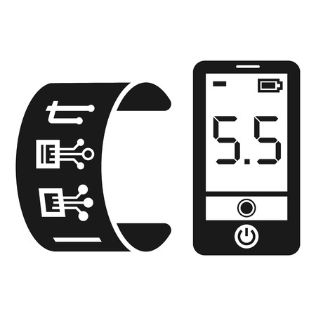 Futuristic glucose meter icon. Simple illustration of futuristic glucose meter vector icon for web design isolated on white background