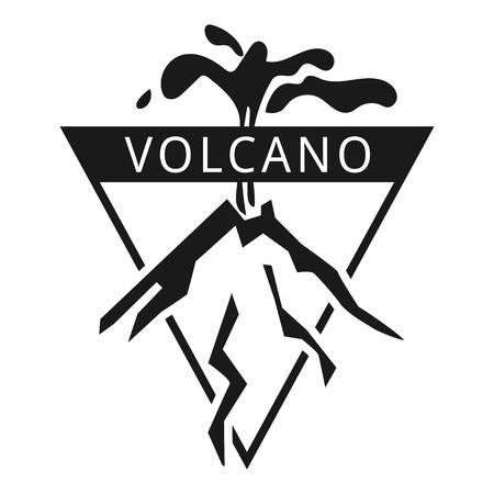 Island volcano logo. Simple illustration of island volcano vector logo for web design isolated on white background Illustration