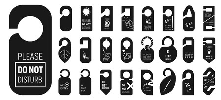 Hanger tags icons set. Simple set of hanger tags vector icons for web design on white background