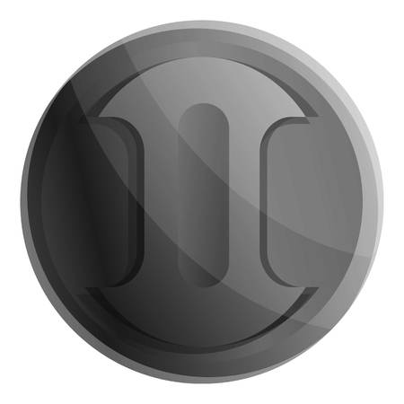 Camera lens cover icon. Cartoon of camera lens cover vector icon for web design isolated on white background 向量圖像
