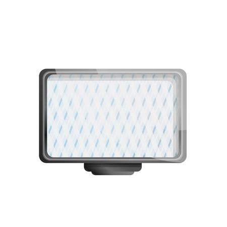 Camera led light icon. Cartoon of camera led light vector icon for web design isolated on white background Illustration