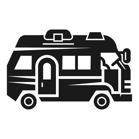 Urlaub Wohnmobil-Symbol. Einfache Illustration der Vektorikone des Ferienwohnmobils für das Webdesign lokalisiert auf weißem Hintergrund Vektorgrafik