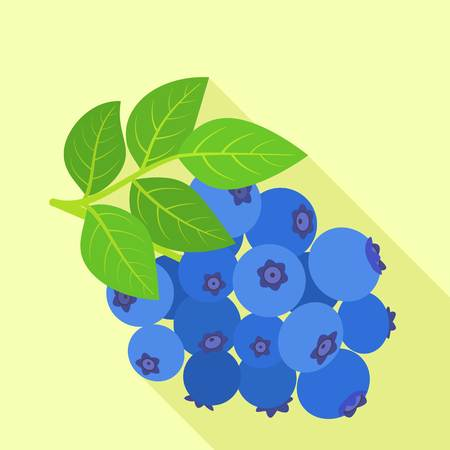 Tasty bilberry icon. Flat illustration of tasty bilberry vector icon for web design Illustration
