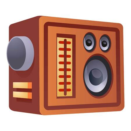 Fm radio speaker icon. Cartoon of fm radio speaker vector icon for web design isolated on white background