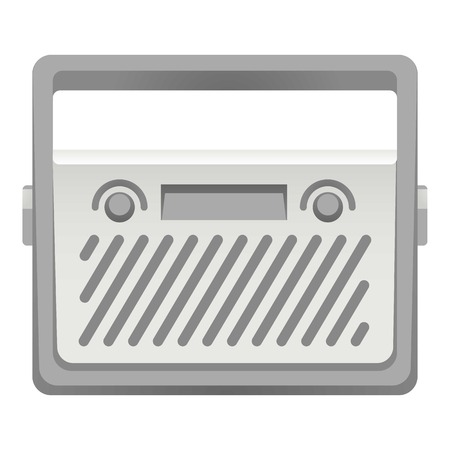 Steel radio icon. Cartoon of steel radio vector icon for web design isolated on white background