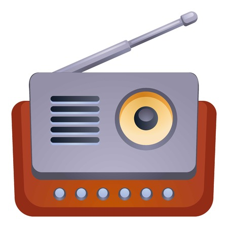 Antenna radio icon. Cartoon of antenna radio vector icon for web design isolated on white background Illustration