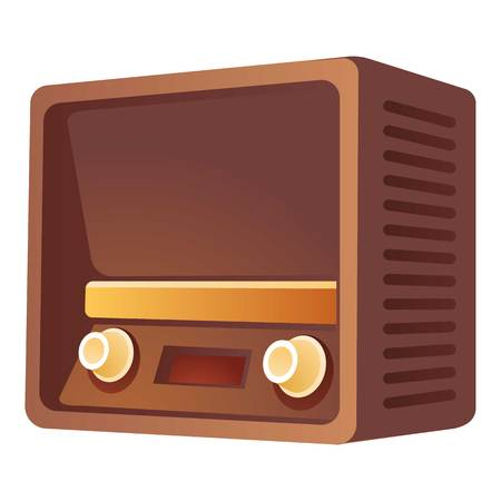 Retro radio icon. Cartoon of retro radio vector icon for web design isolated on white background
