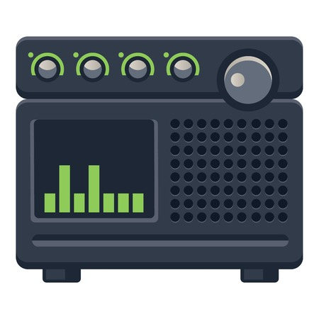 Digital radio icon. Cartoon of digital radio vector icon for web design isolated on white background