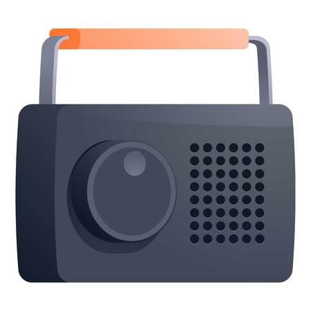 Portable radio icon. Cartoon of portable radio vector icon for web design isolated on white background
