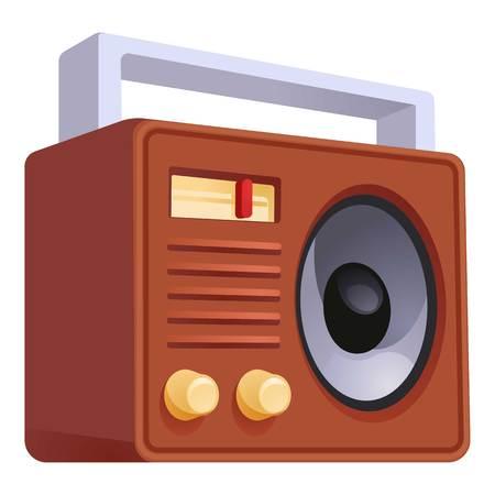 Retro old radio icon. Cartoon of retro old radio vector icon for web design isolated on white background