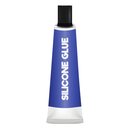 Silicone glue icon. Realistic illustration of silicone glue vector icon for web design isolated on white background
