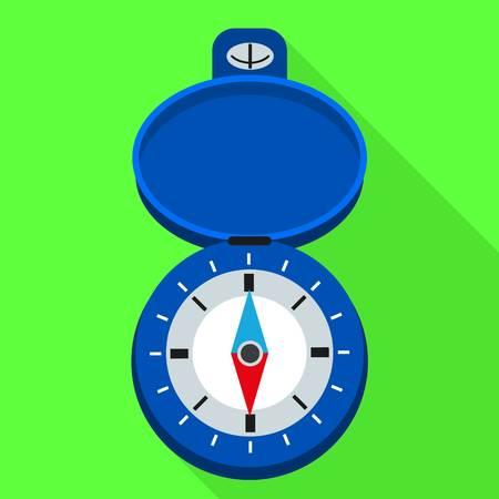 Navigation hand compass icon. Flat illustration of navigation hand compass vector icon for web design