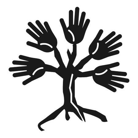 Tree people cohesion icon. Simple illustration of tree people cohesion vector icon for web design isolated on white background Illustration