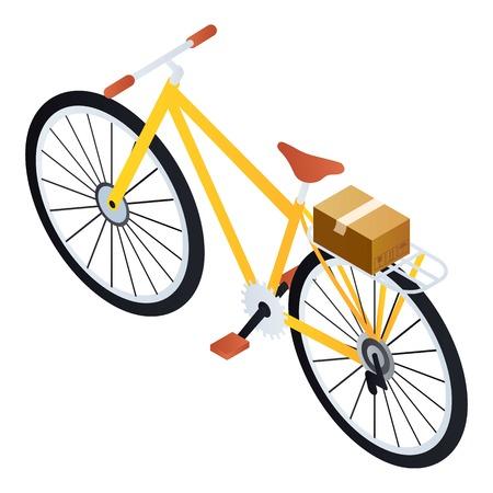 Postman bike icon. Isometric of postman bike vector icon for web design isolated on white background